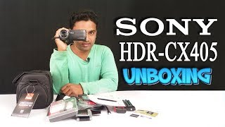 SONY HDR-CX405 CAMCORDER UNBOXING
