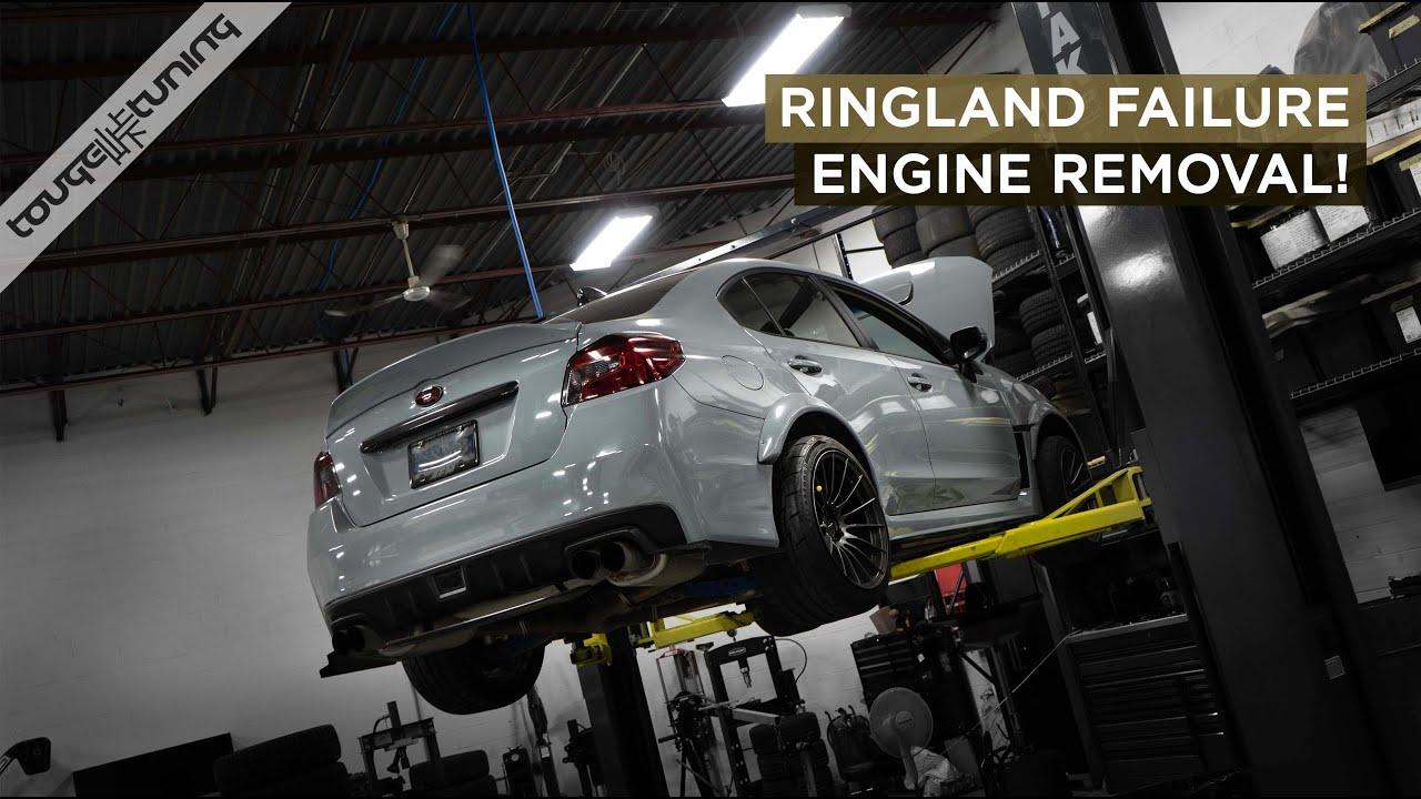 Ringland Failure STi Rebuild Part 1 - Removing the Engine