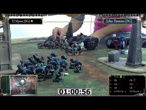 Warhammer 40k Battle Report 009: Black Templars (John Parsons)  vs Orks (TJ Myers)