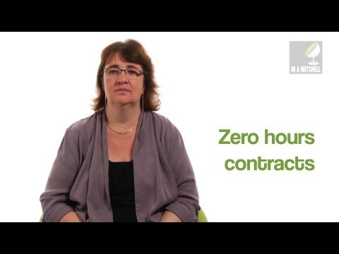 What are zero hours contracts? - In a nutshell