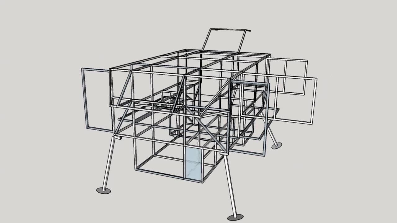 Slide on Camper Design - Adventure Module Frame - Sketchup - Truck ...