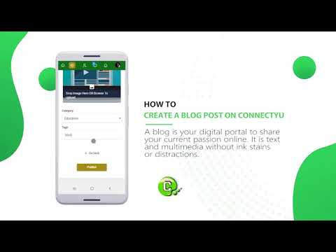 How to create a blog post on the ConnectYu Platform