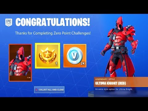 ZERO POINT CHALLENGES FREE REWARD ITEMS - ULTIMA KNIGHT, PRESTIGE MISSIONS FORTNITE | TamashaBera