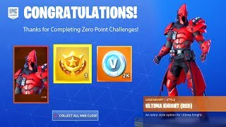 ZERO POINT CHALLENGES FREE REWARD ITEMS - ULTIMA KNIGHT, PRESTIGE MISSIONS FORTNITE