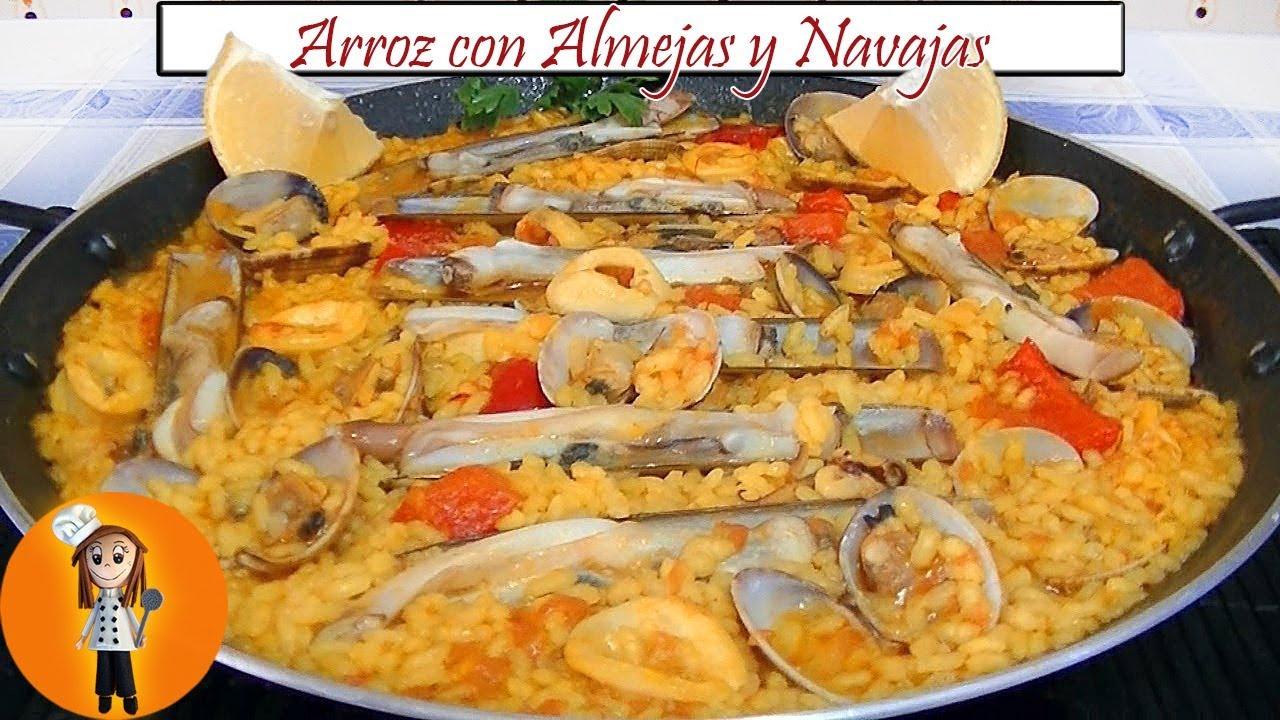 Arroz Con Almejas Y Navajas Receta De Cocina En Familia