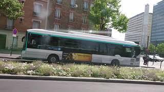 Trajet ligne 163 RATP en Irisbus/IVECO Citelis Line 2006 - bus Paris