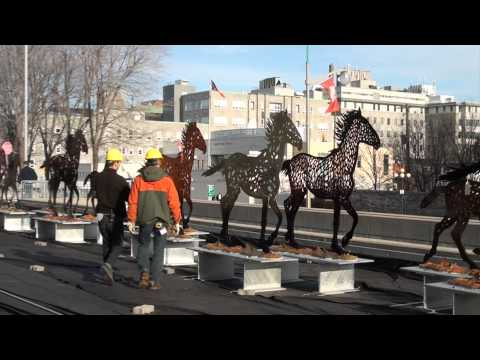 Installing Running Horses with Joe Fafard