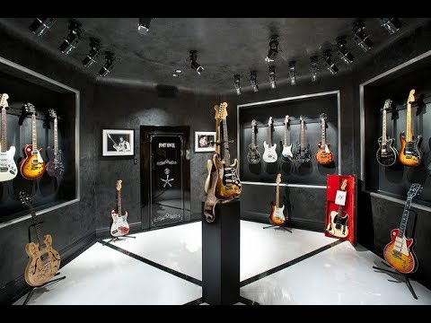 Home Music Studio Design Ideas With Guitars On The Wall Youtube