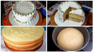 Tavada Yapılan Kekiyle 3 Katlı Harika Bir Yaş Pasta Tarifi /hacereli
