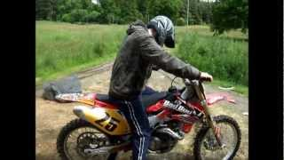 Crf 450 motocross bike ride loud exhaust