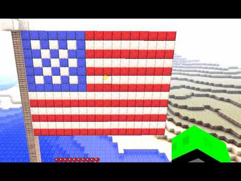 Minecraft Build American Flag Youtube