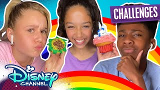 Ruth and Ruby's Virtual Sleepover Challenges | Cupcake Decorating Challenge 🧁| Disney Channel