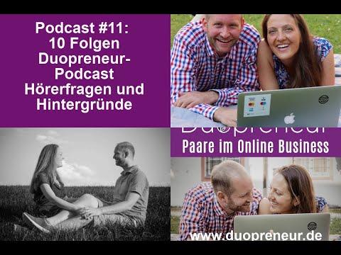 Duopreneur-Podcast für Paare im Online Business: #11 Highlights aus 10 Folgen, Rückblick und Fragen