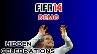 FIFA 14 DEMO: Hidden Celebrations Tutorial (The Bear, Bellyflop, Gallop dance, Riding the cat)