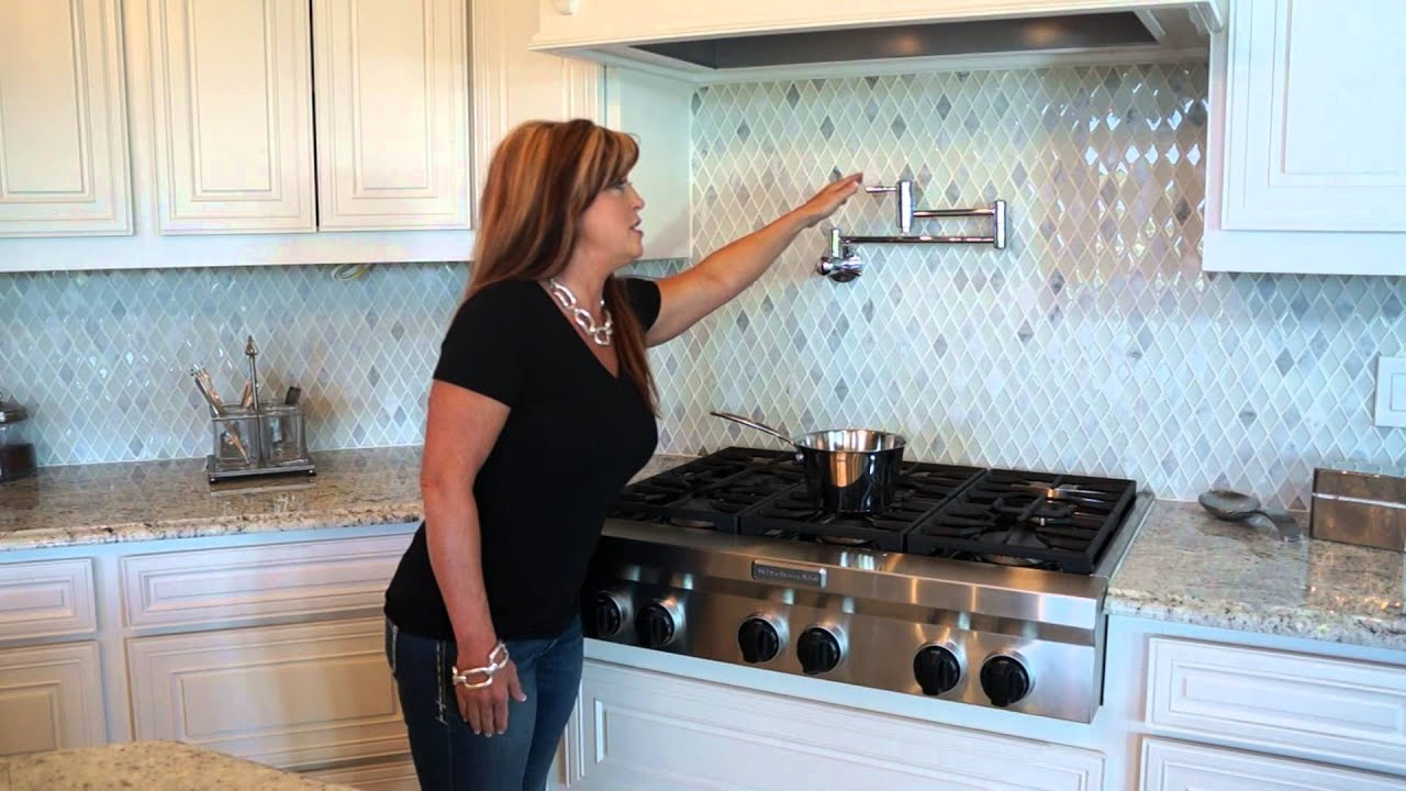 home faucet kitchen pin pinterest pasta style stove backsplash tile kitchens