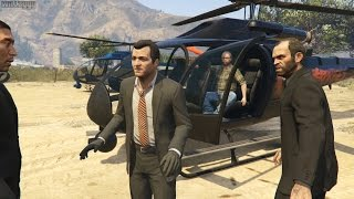GTA 5 (PS4) - Mission #76 - The Big Score (Obvious Approach)  [Gold Medal]