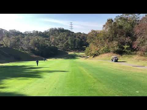 ゴルフクラブ四条畷 アウト4番ホールの動画、コースが大きく右に曲がります、
