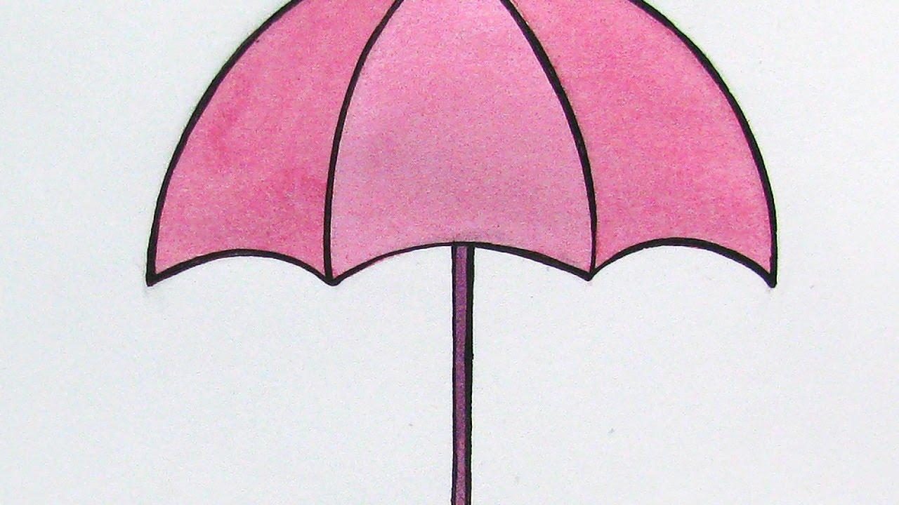 draw a cute pink umbrella diy crafts guidecentral youtube
