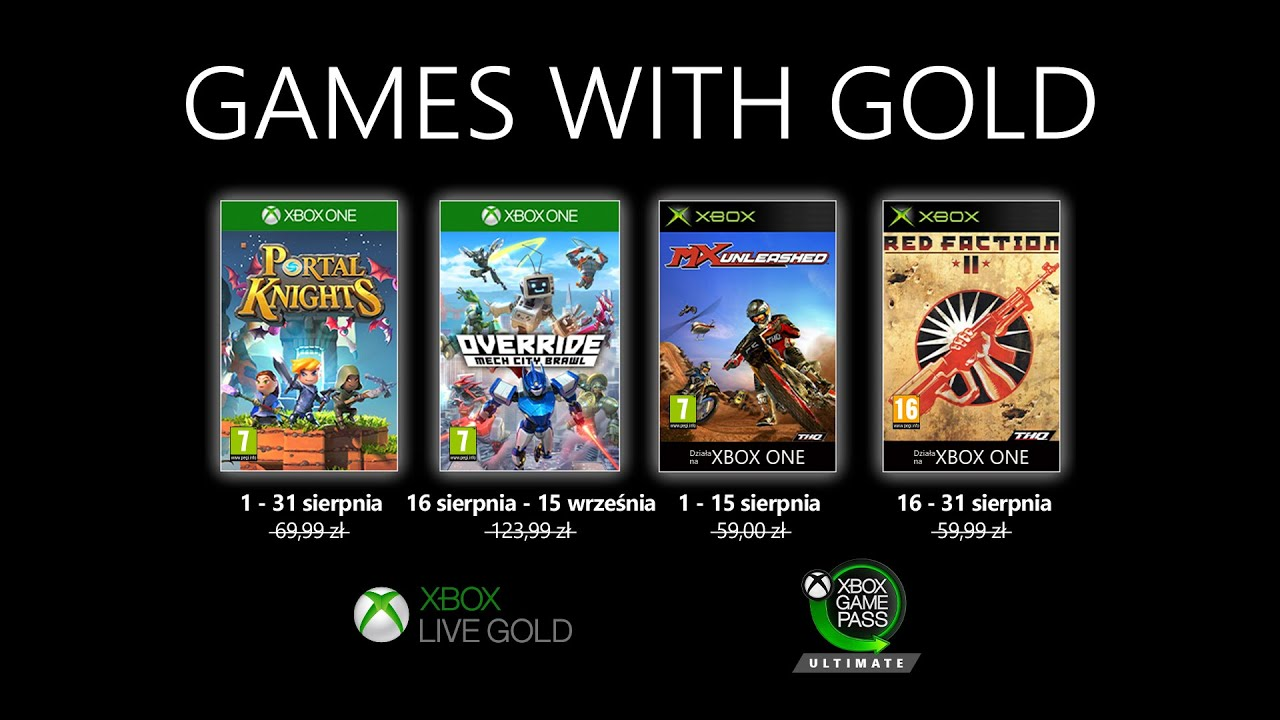 Games with Gold | Sierpień 2020 cz. 1 | Xbox XY Extra