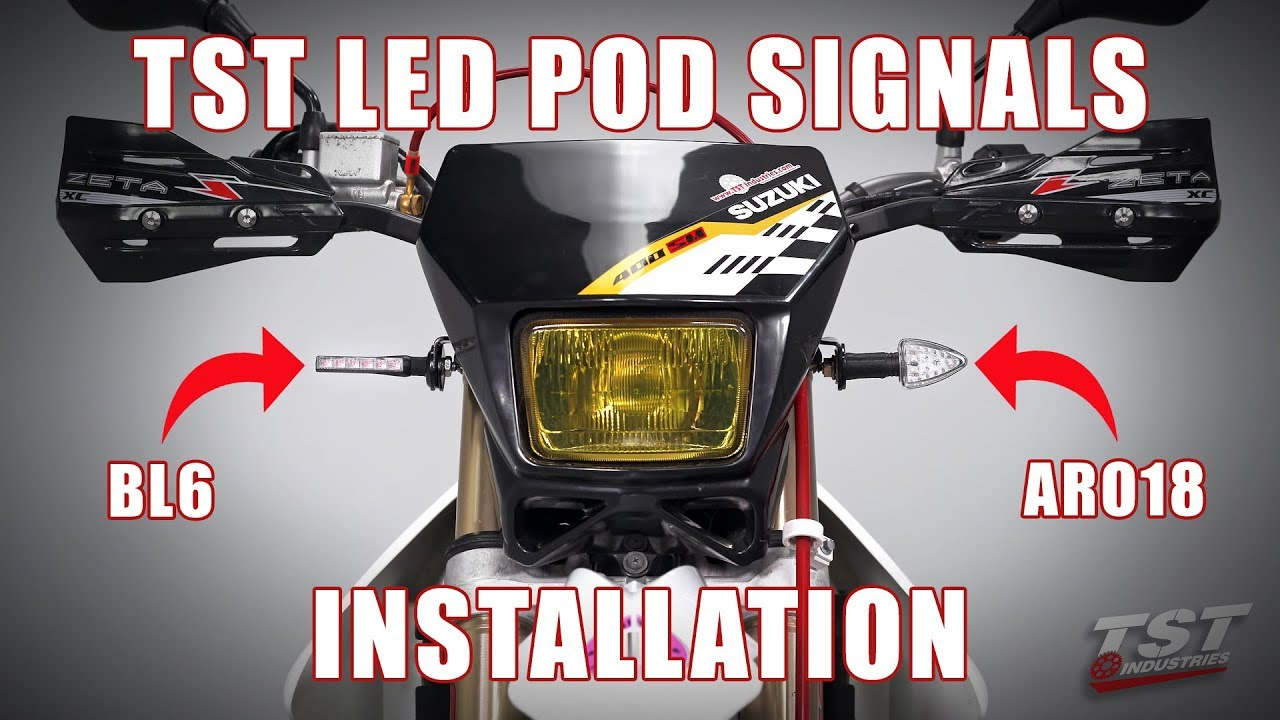 how to install tst led pod turn signals on a suzuki drz400 by tst industries [ 1280 x 720 Pixel ]