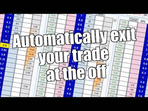 Trading on Betfair - Automatically exit your trade at the off
