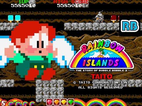 1987 [60fps] Rainbow Islands (new ver.) Hardest Nomiss ALL