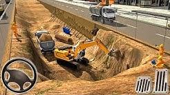 Mega City Underpass Bridge Road Building Construction Simulator - Android GamePlay