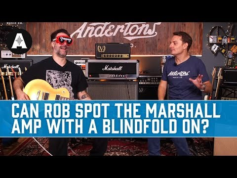 Can Rob spot the Marshall amp  Avec le blindfold?  Andertons Music Co.