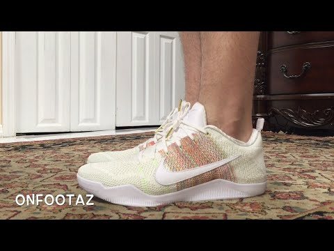 a94103ba39b7 Nike Kobe 11 XI Elite 4KB White Horse On Foot - YouTube