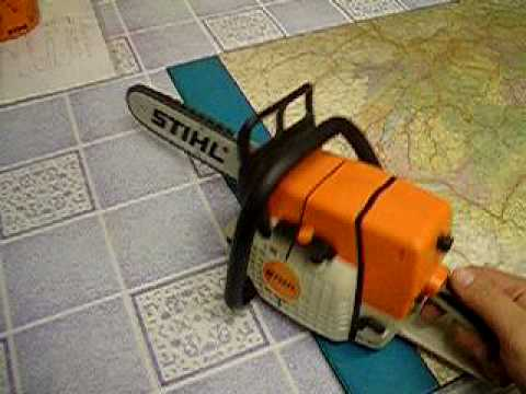 stihl chainsaw for kids kinder motors ge youtube. Black Bedroom Furniture Sets. Home Design Ideas