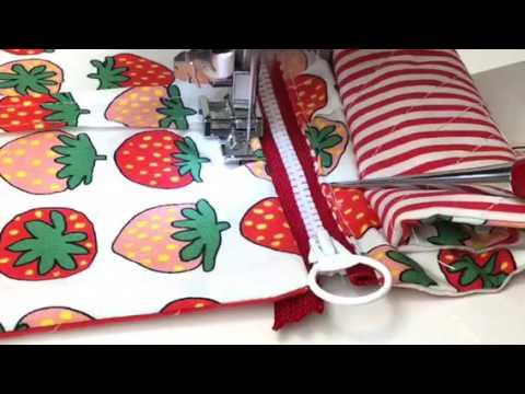 主婦のミシン簡単仕切りポーチの作り方