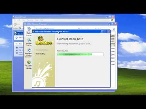 How To Uninstall (remove) Bearshare (program, Toolbars, Search)