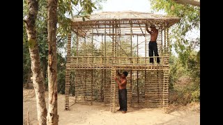 tine tv : Build the most creative two story structure villa by bamboo (part 1 )