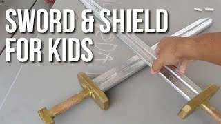 DIY Wood Swords and Shields for Kids