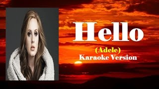 Karaoke - Hello By Adele (Videoke | Lyrics | Minus One)
