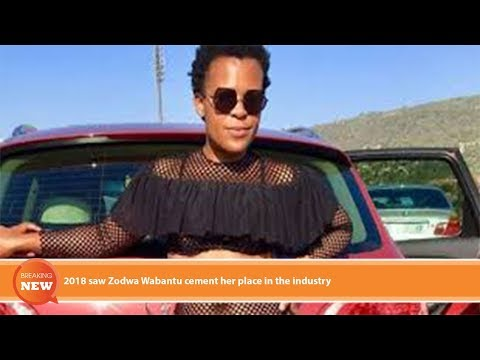 Hot new: 2018 saw Zodwa Wabantu cement her place in the industry