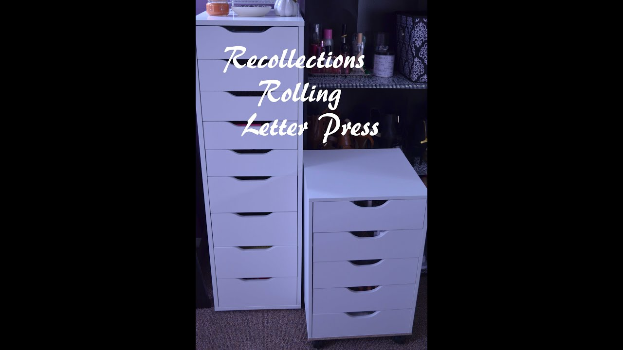 Recollections Rolling Letter Press Alex Drawer Dupe