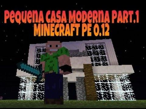 Pequena Casa Moderna Part 1 Minecraftpe Youtube