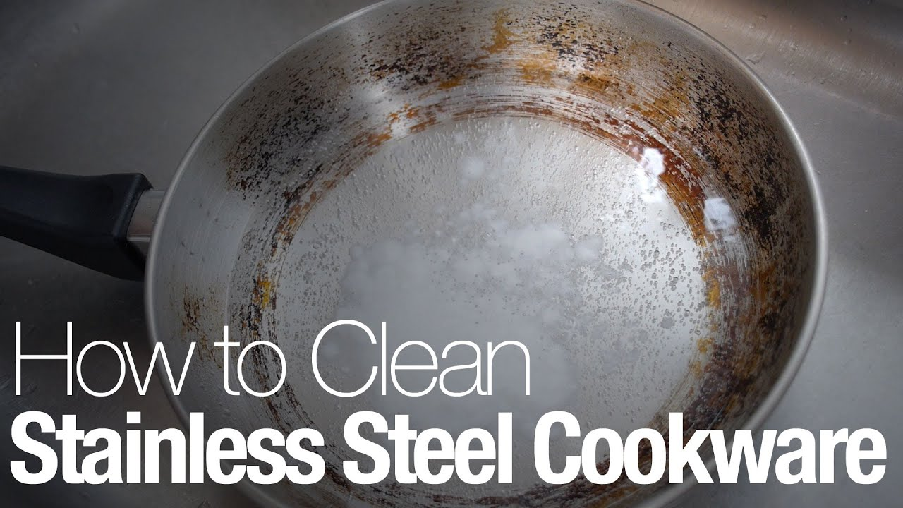 How To Clean Stainless Steel Cookware Youtube