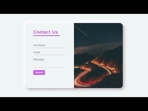 Neumorphism Contact Us Page Using Html5 Css3