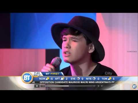 Sebastian Olzanski performs on Breakfast Television