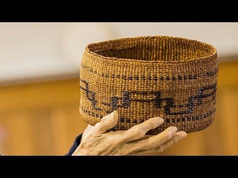 Twining Cedar (1 of 15): Annette Island Tsimshian Basket Weaving