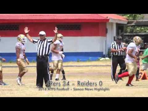 2016 AYFS Football Week No.2: 49ers 38 – Raiders 0 (2nd Game)
