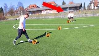 Ultimative freistoss fussball challenge vs gareth walker + abonnenten!