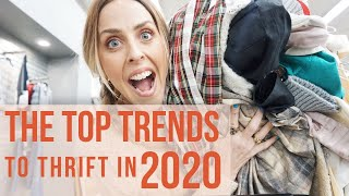 TOP TRENDS TO THRIFT IN 2020// COME THRIFTING WITH ME
