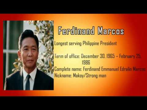Silliman University Historical Timeline of Philippine Presidents: 1946-2016 (CPT GERARD PAMATE)