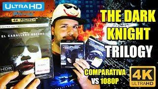 THE DARK KNIGHT ULTRA HD - 4K  BLU-RAY - BATMAN BEGINS - THE DARK KNIGHT RISES - COMPARISON