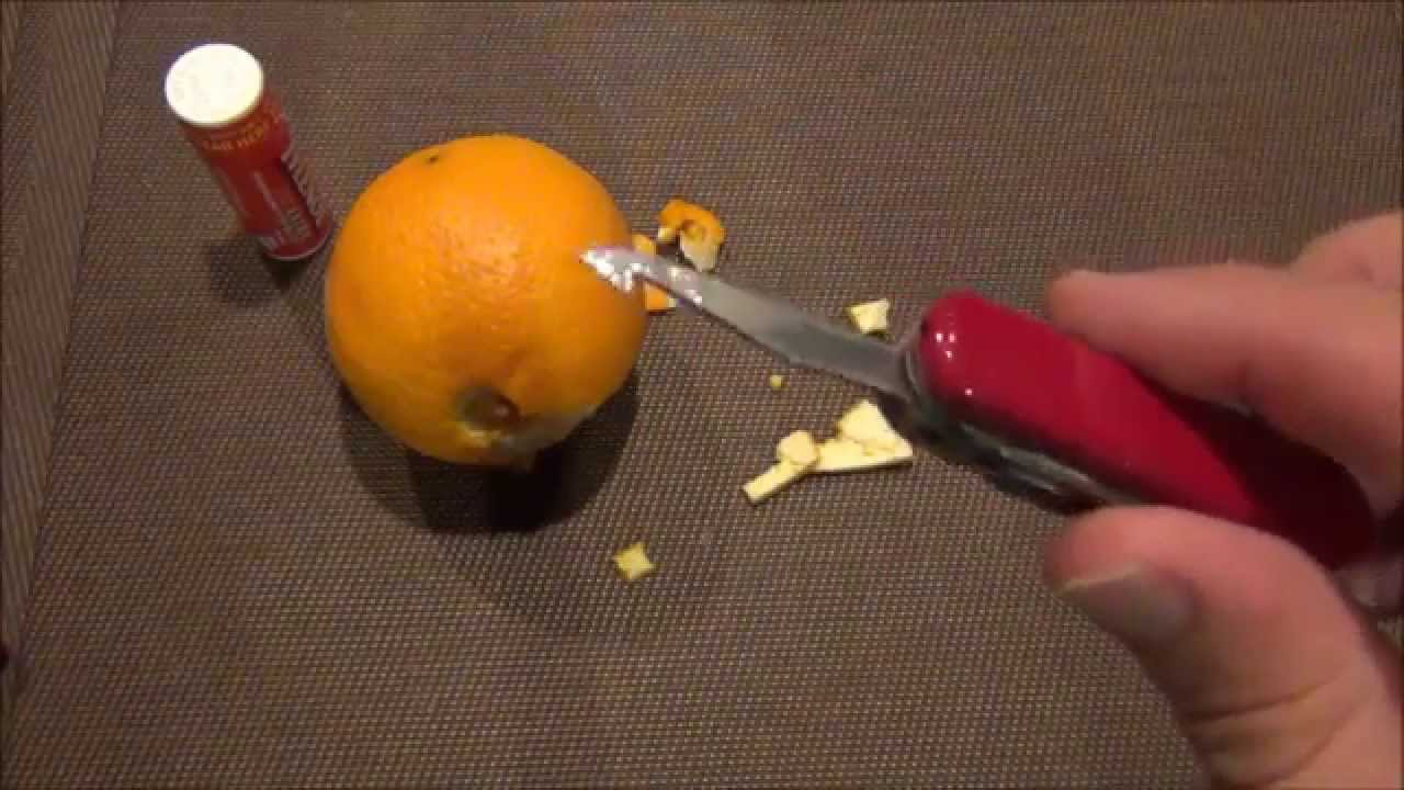 Victorinox Quot Cut And Pick Quot Orange Peeler Youtube