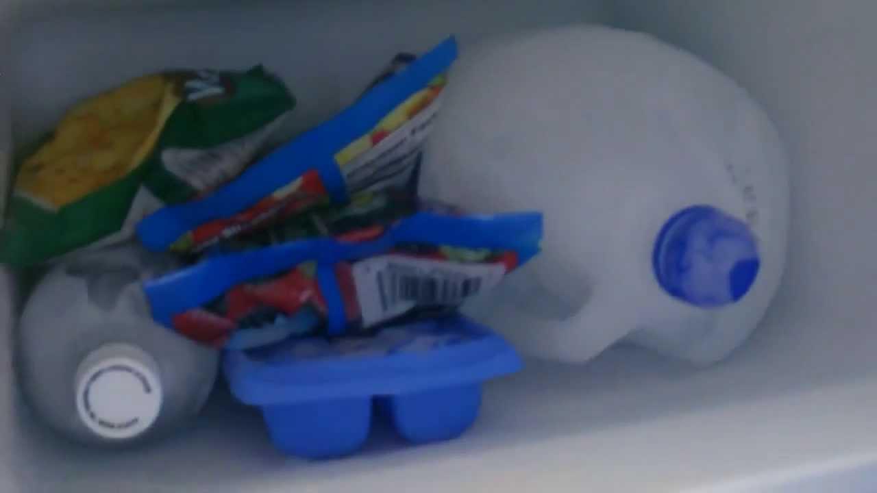 Solar Powered Fridge Freezer 30w Off Grid Refrigeration Wiring Diagram 12v Caravan Holds Gallon Jugs Ice Blocks Youtube