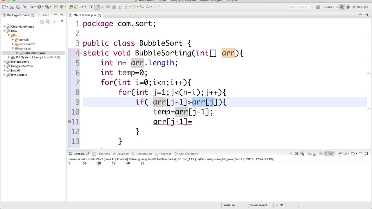 Insertion Sort vs Bubble Sort + Some analysis - YouTube
